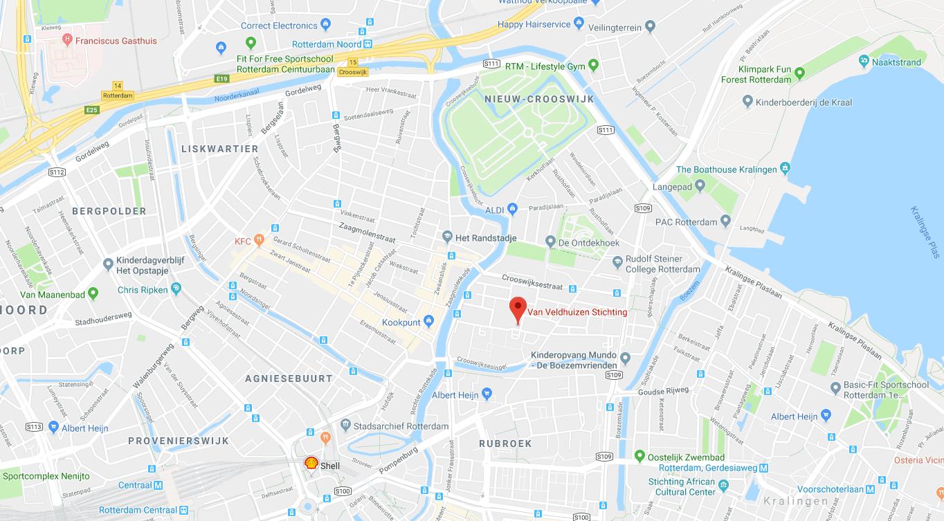 Contact Kaart Van Veldhuizen Stichting