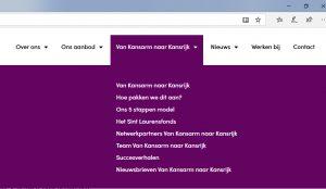 Prinsceen website VVS met KK